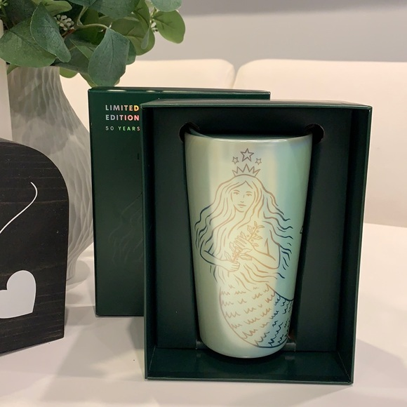 STARBUCKS 50 year limited edition ceramic hot cup